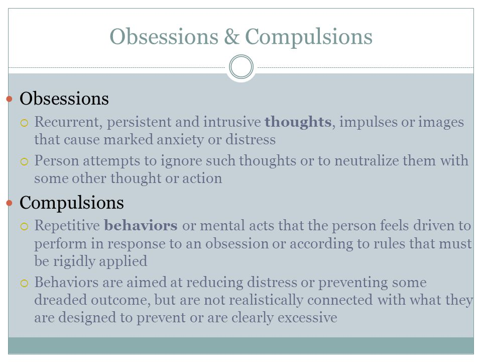 Obsessions & Compulsions