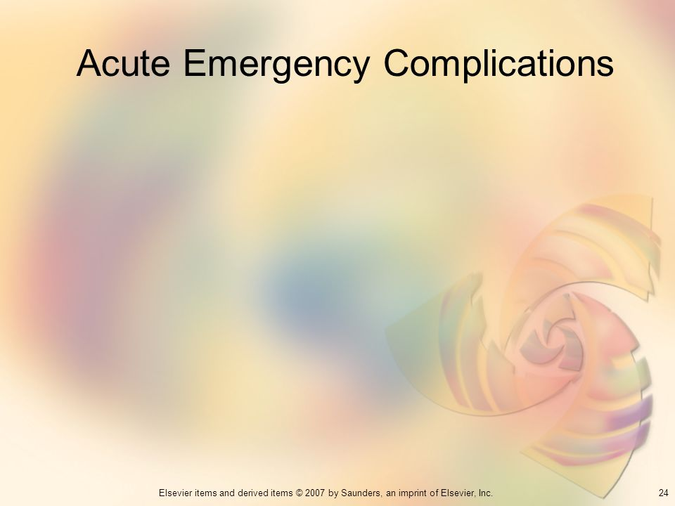 Acute Emergency Complications