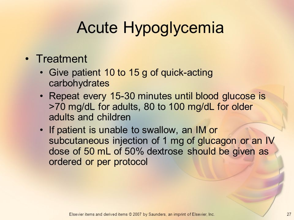 Acute Hypoglycemia Treatment