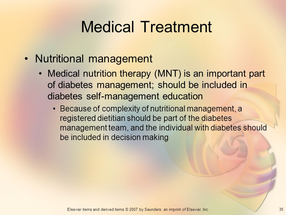 Medical Treatment Nutritional management