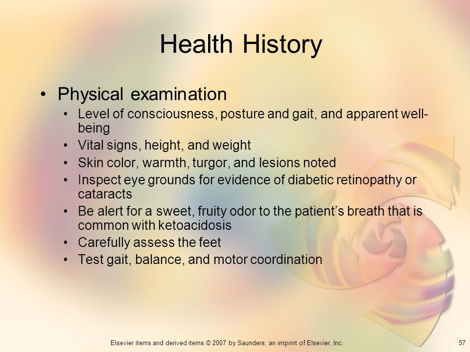 Health History Physical examination