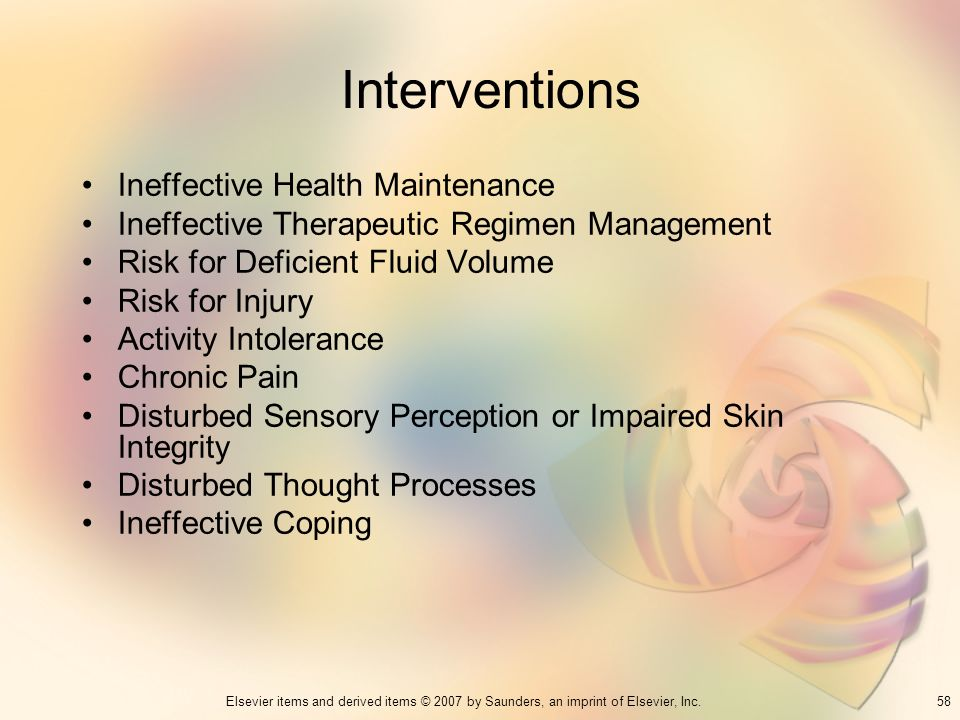 Interventions Ineffective Health Maintenance