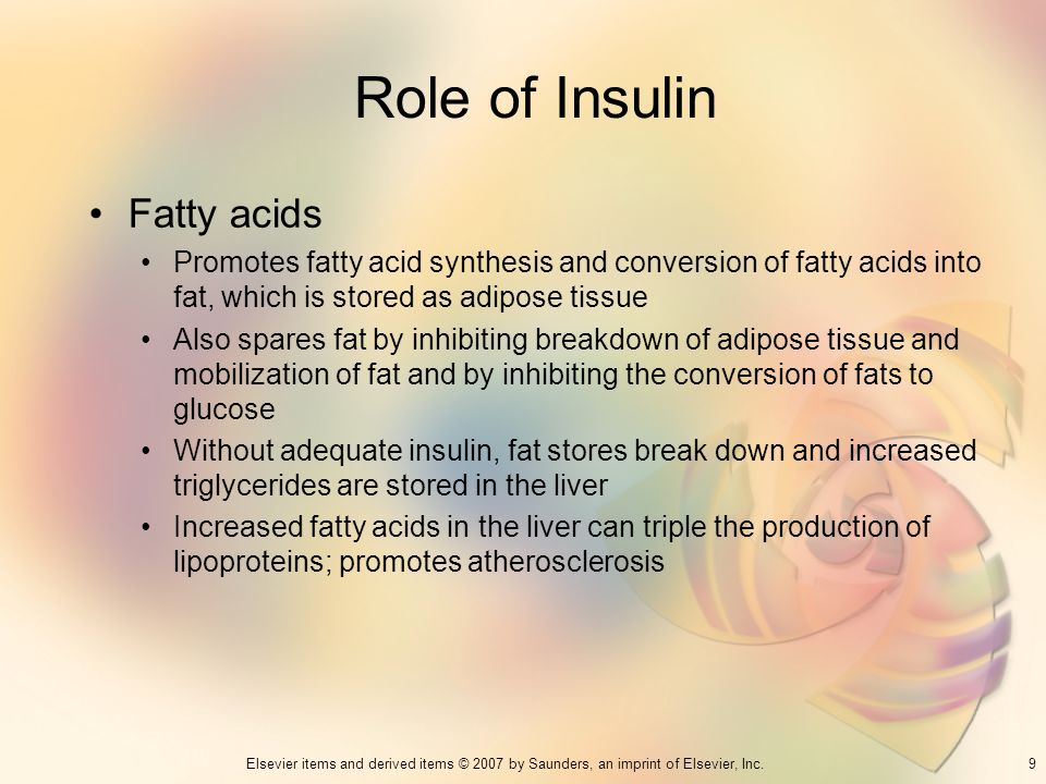 Role of Insulin Fatty acids