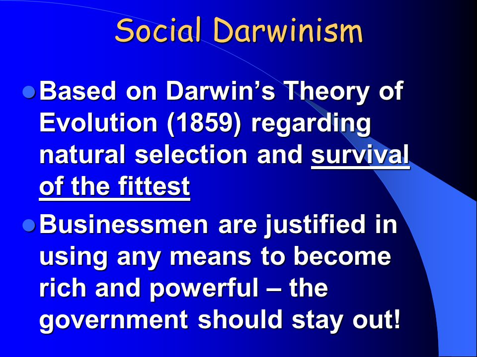 on darwins theory of natural selection