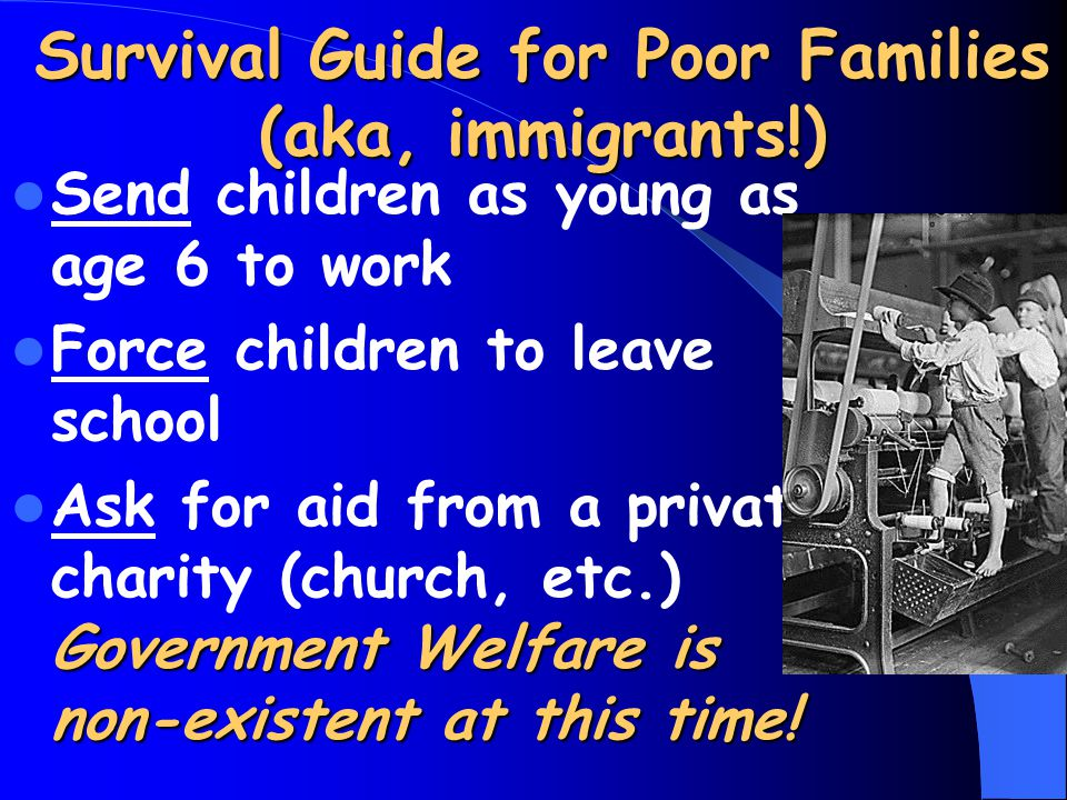 Survival Guide for Poor Families (aka, immigrants!)