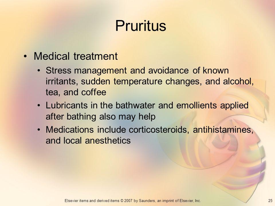 Pruritus Medical treatment