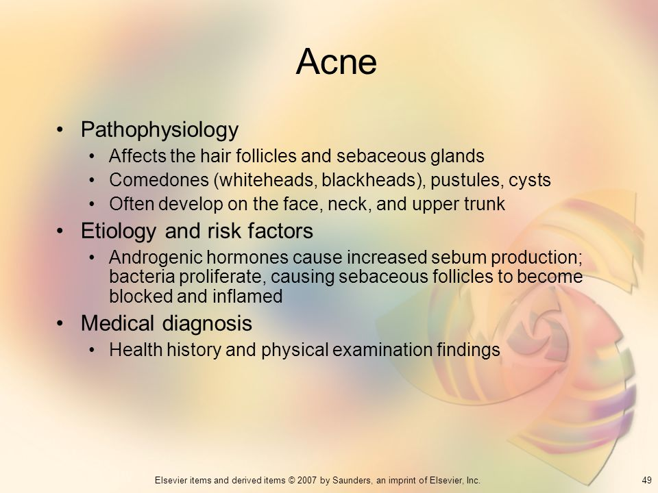 Acne Pathophysiology Etiology and risk factors Medical diagnosis