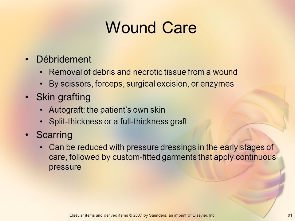 Wound Care Débridement Skin grafting Scarring