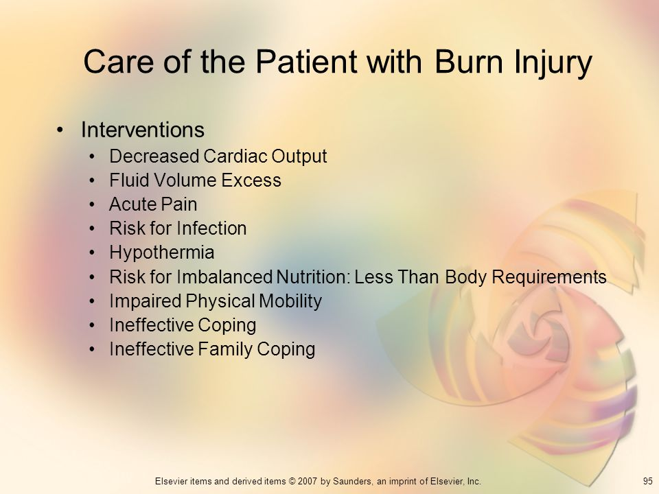 Care of the Patient with Burn Injury