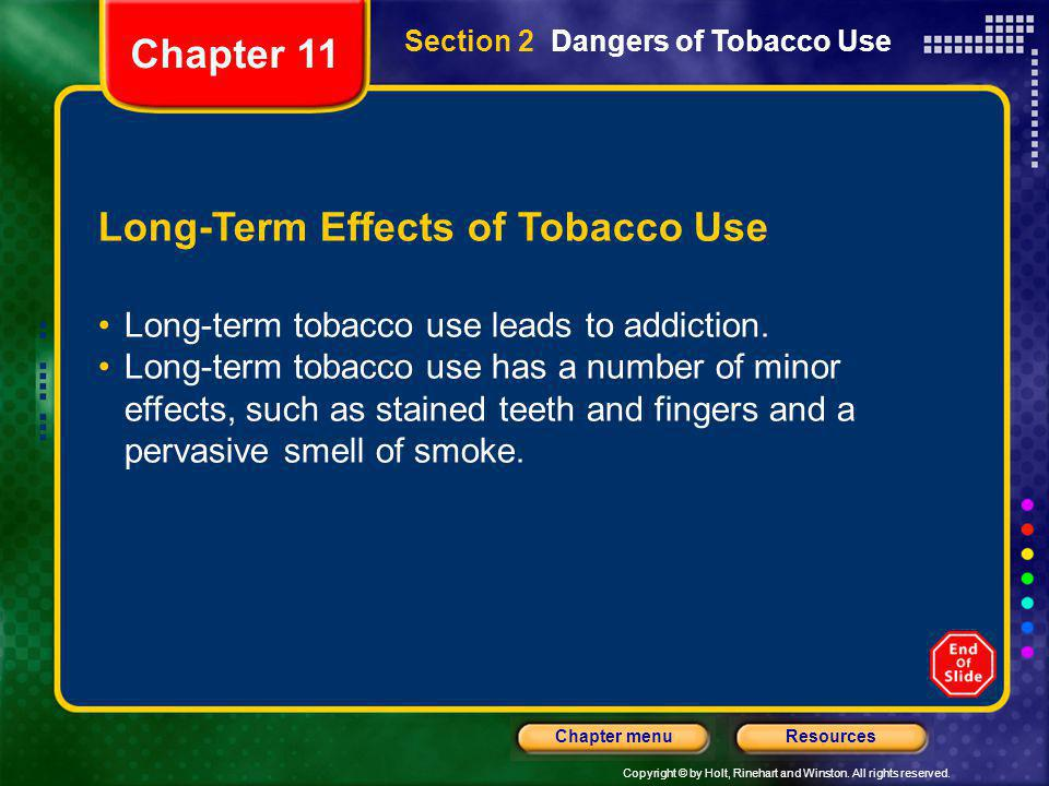Long-Term Effects of Tobacco Use