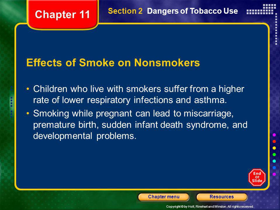 Effects of Smoke on Nonsmokers