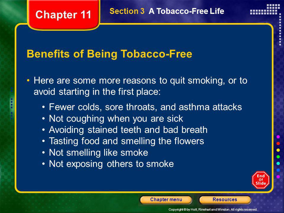 Benefits of Being Tobacco-Free