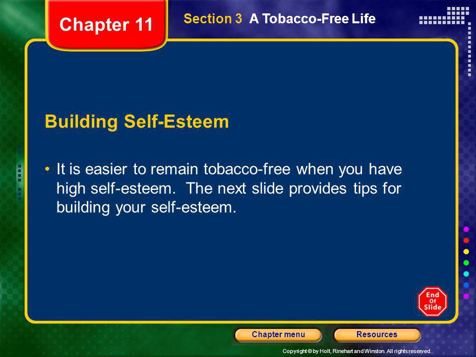 Chapter 11 Building Self-Esteem