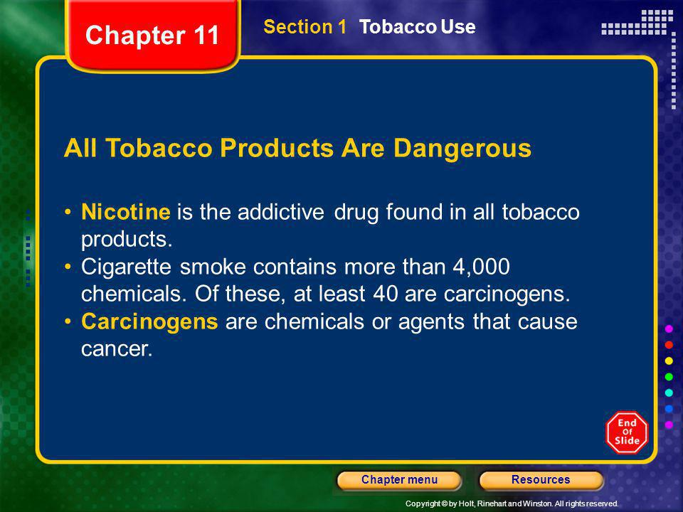 All Tobacco Products Are Dangerous