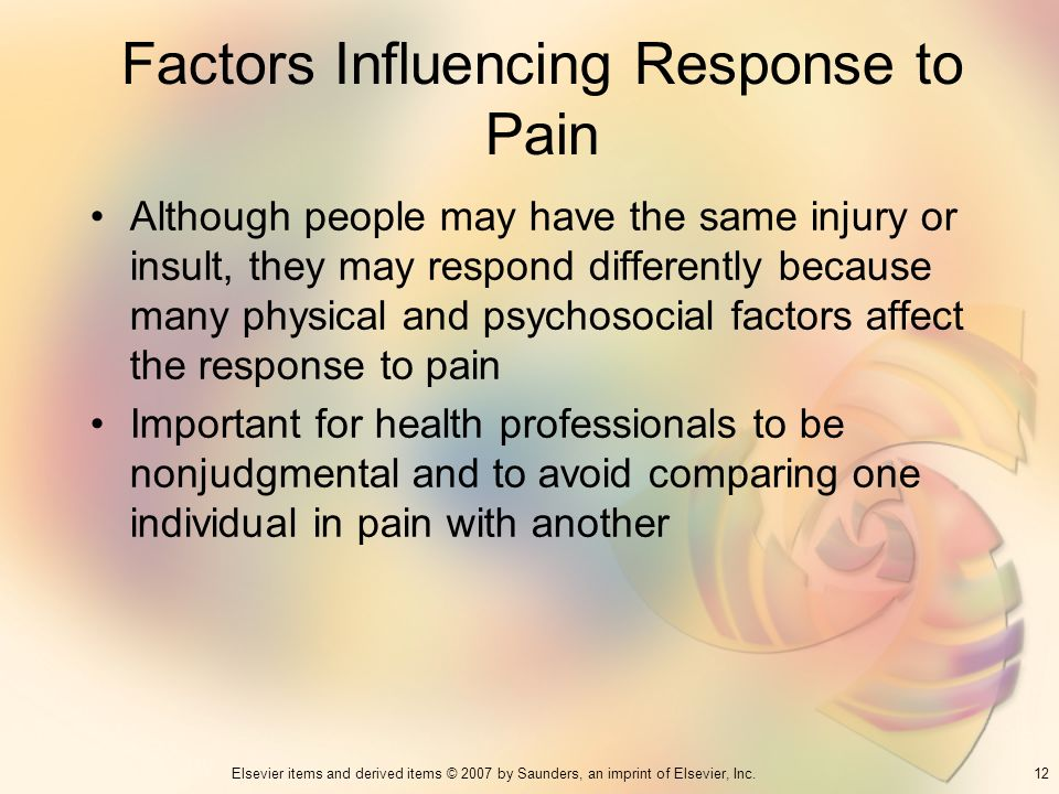 Factors Influencing Response to Pain