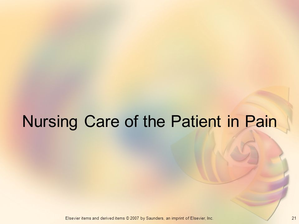 Nursing Care of the Patient in Pain