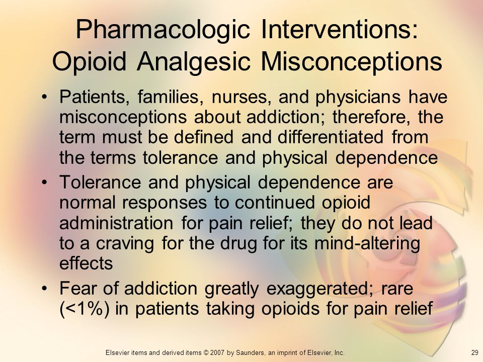 Pharmacologic Interventions: Opioid Analgesic Misconceptions