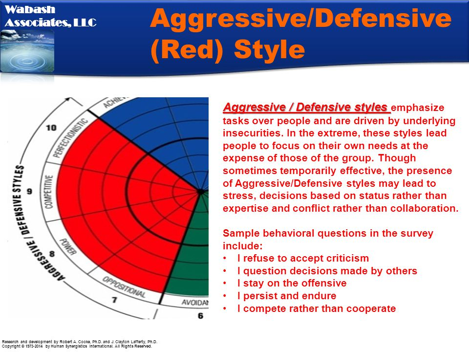 Aggressive/Defensive (Red) Style