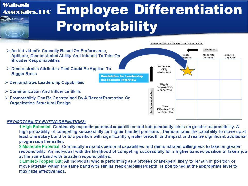 Employee Differentiation Promotability
