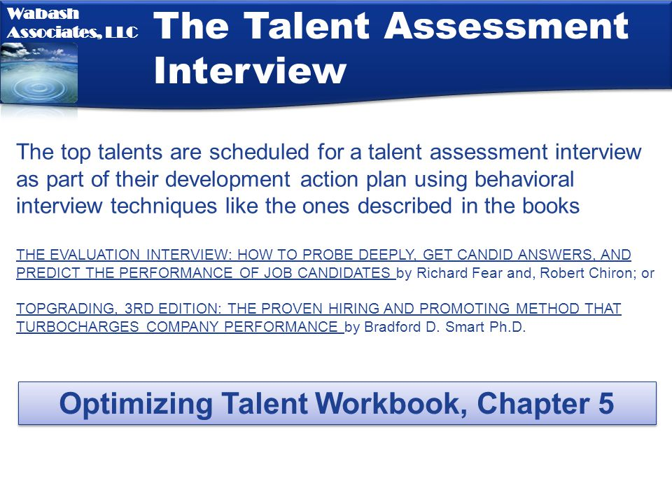 Optimizing Talent Workbook, Chapter 5