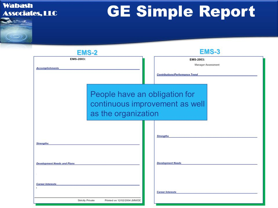 GE Simple Report