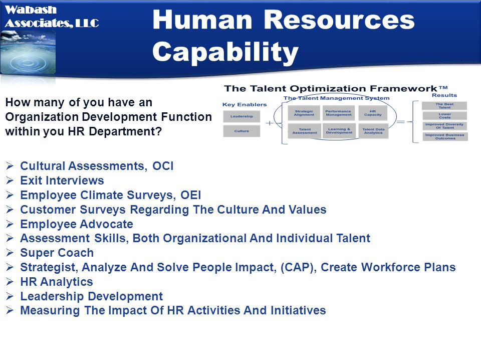 Human Resources Capability
