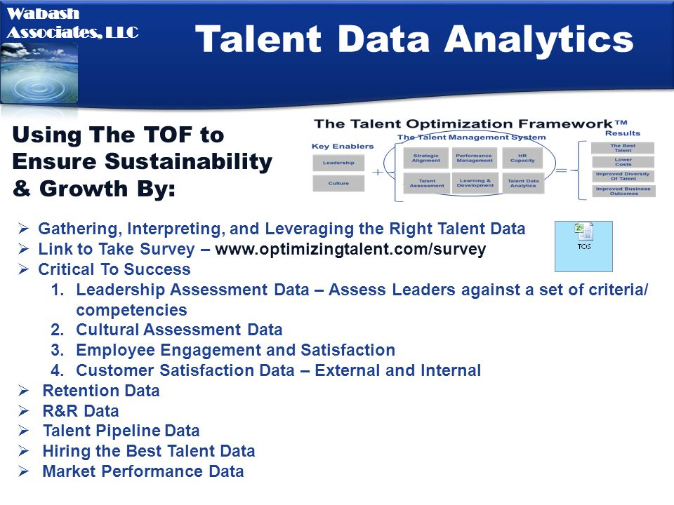 Talent Data Analytics Using The TOF to