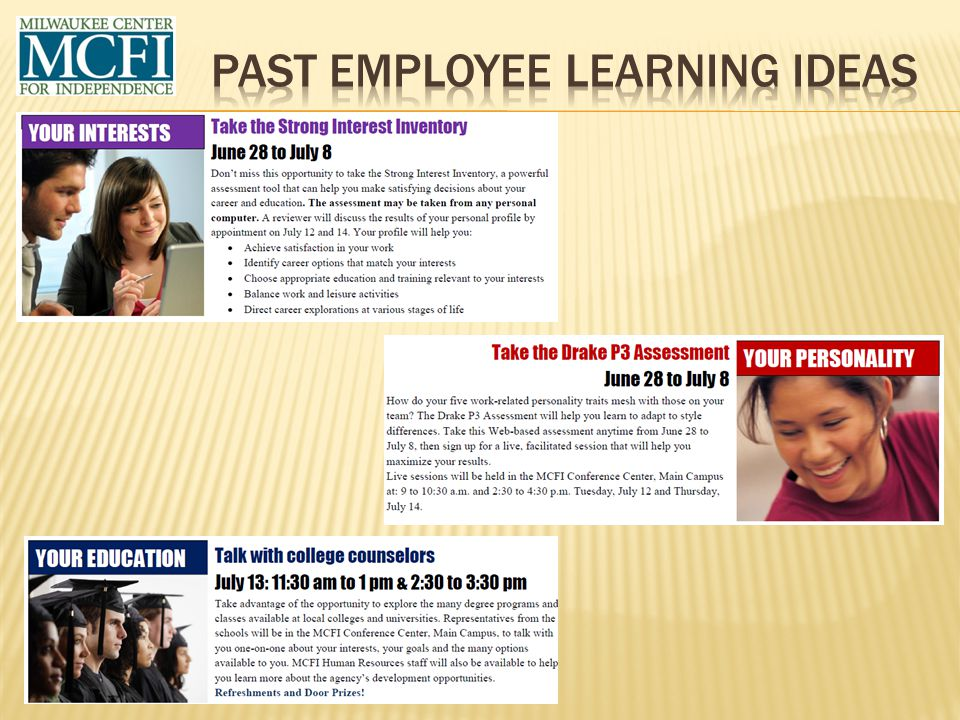 Past Employee Learning ideas
