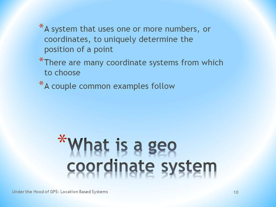 What is a geo coordinate system