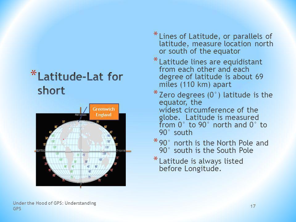 Latitude-Lat for short