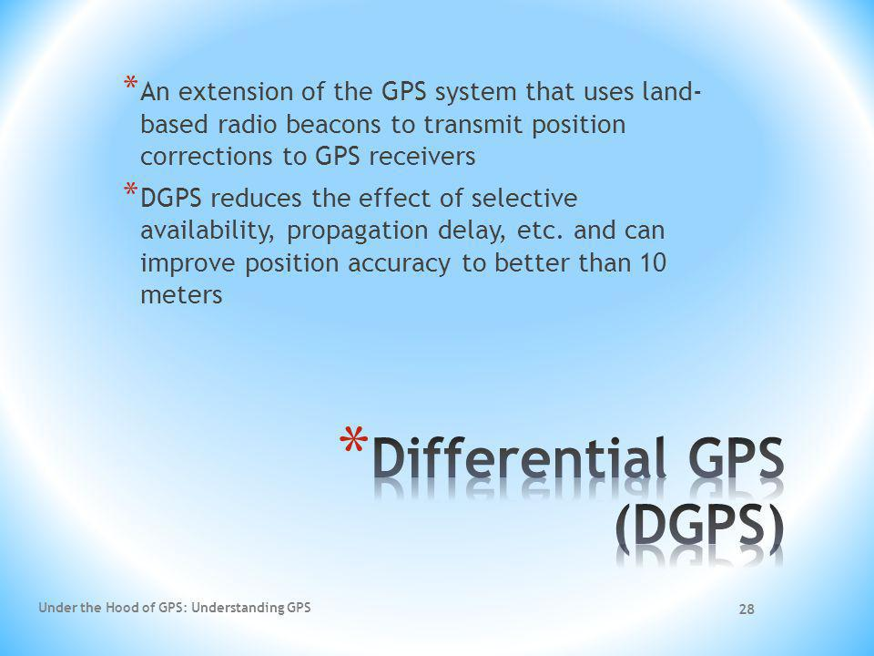 Differential GPS (DGPS)