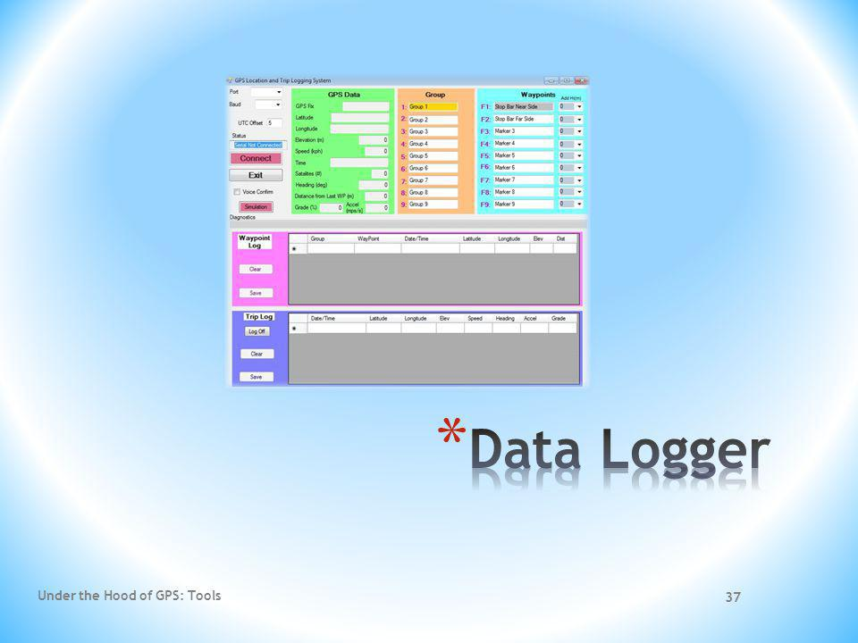 Data Logger Under the Hood of GPS: Tools