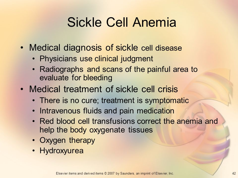 Sickle Cell Anemia Medical diagnosis of sickle cell disease