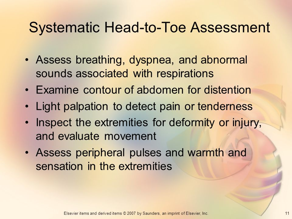 Systematic Head-to-Toe Assessment