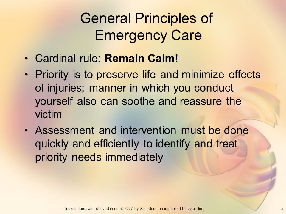 General Principles of Emergency Care