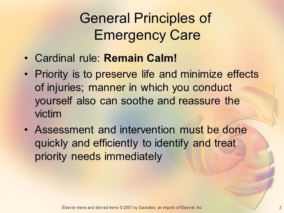 General Principles of Emergency Care
