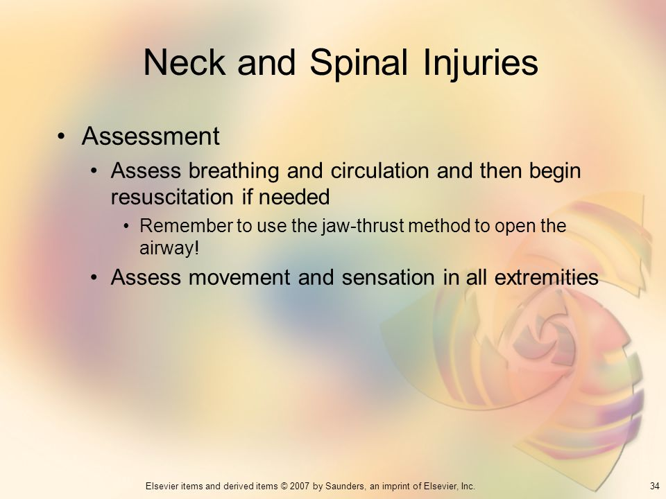 Neck and Spinal Injuries