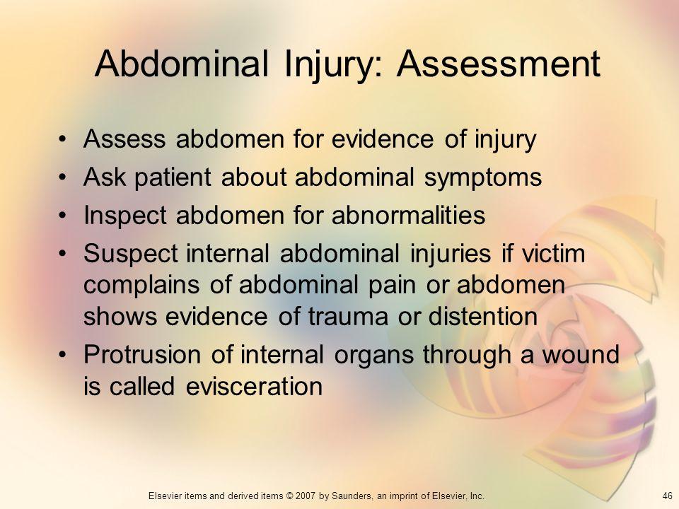 Abdominal Injury: Assessment