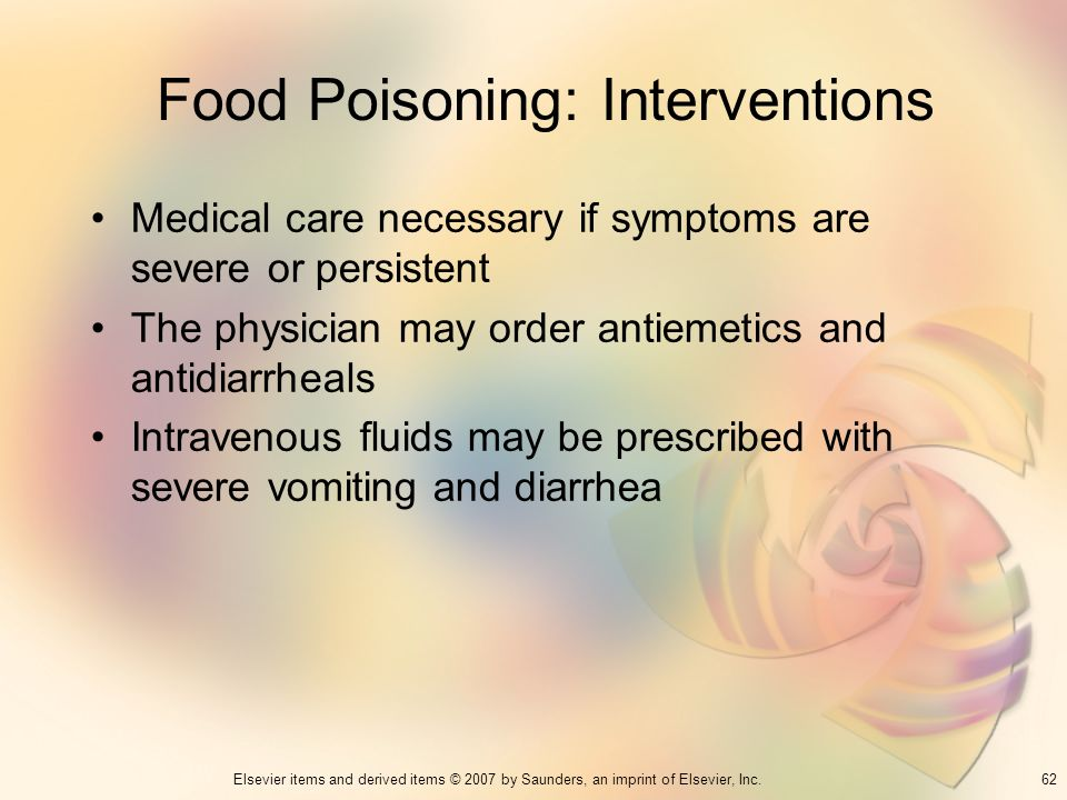 Food Poisoning: Interventions