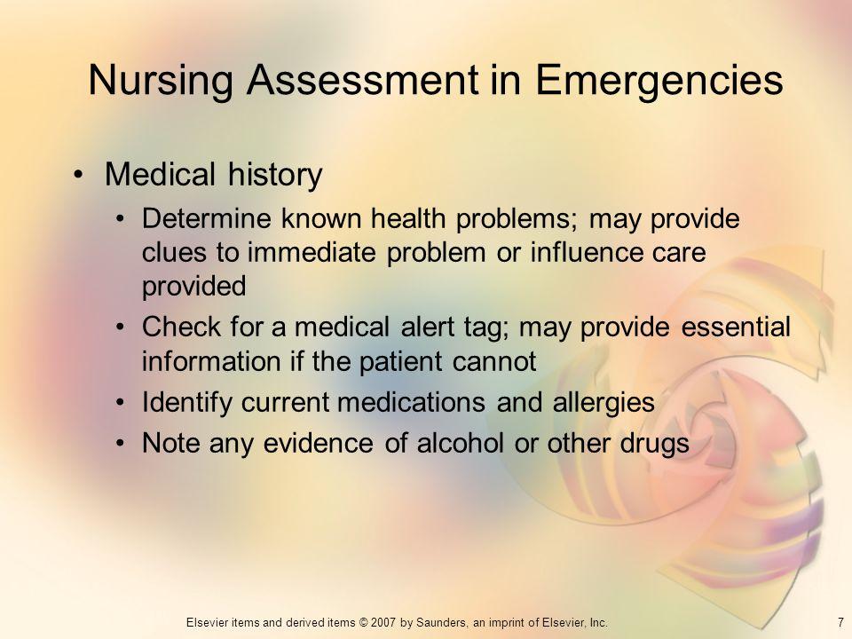 Nursing Assessment in Emergencies