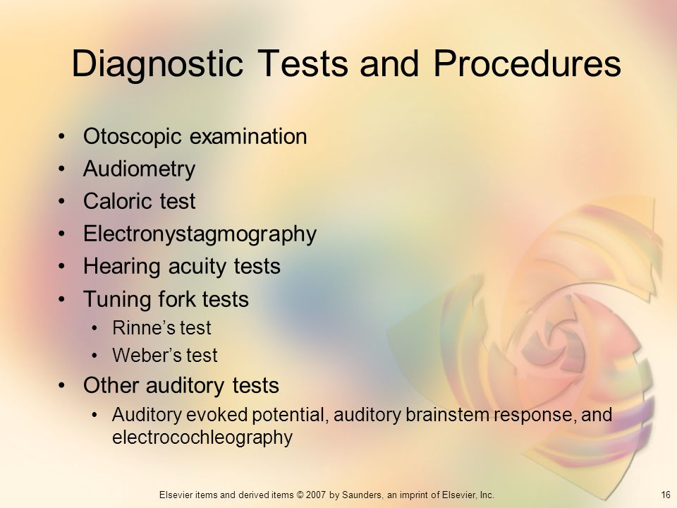 Diagnostic Tests and Procedures