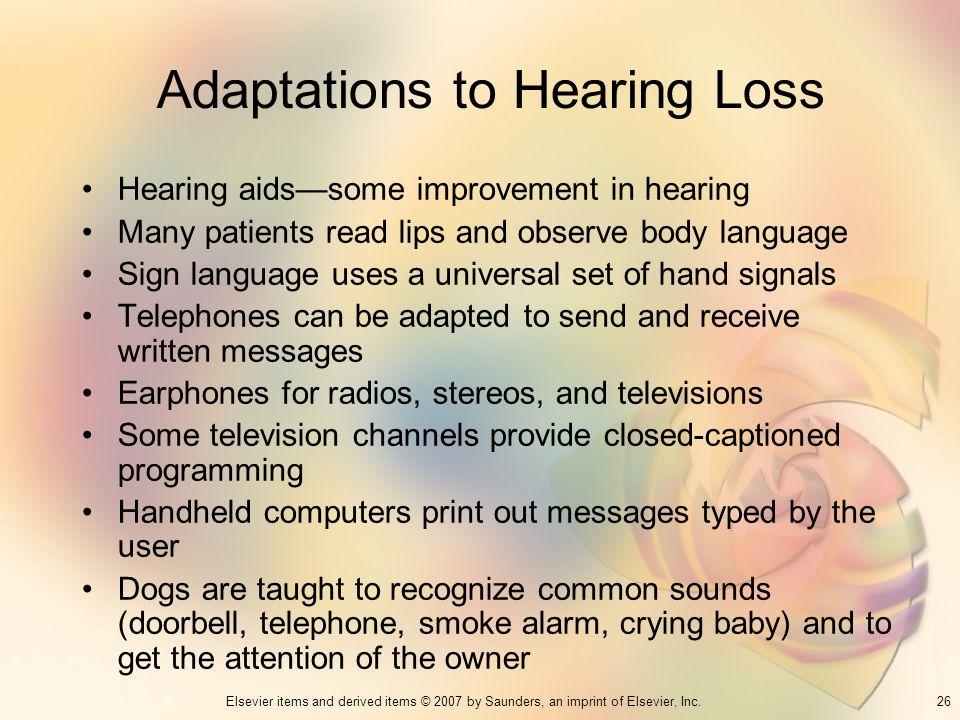 Adaptations to Hearing Loss