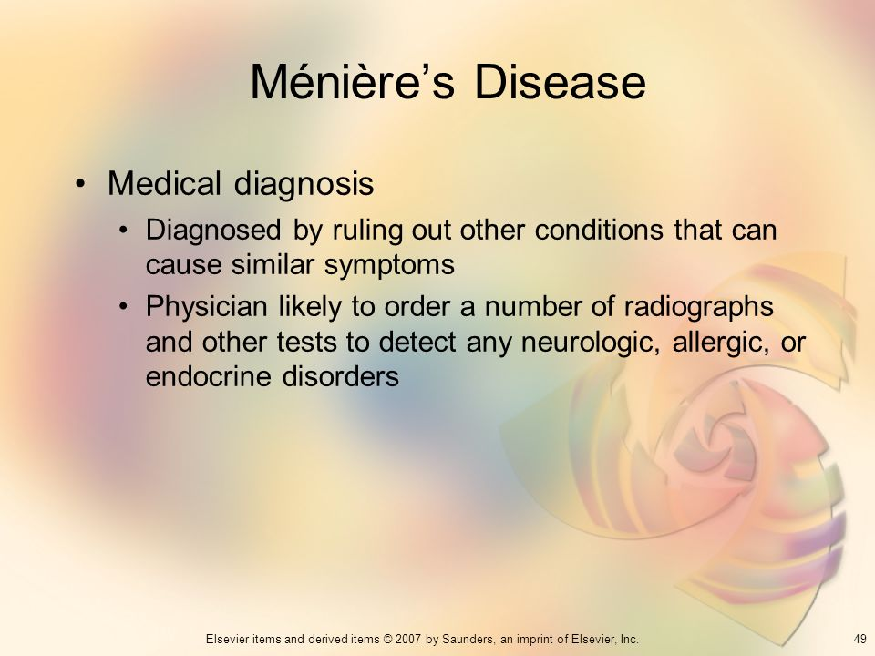 Ménière's Disease Medical diagnosis
