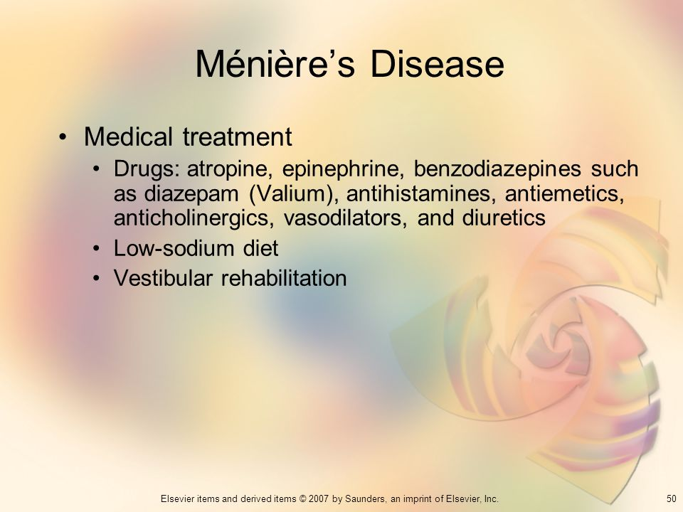 Ménière's Disease Medical treatment