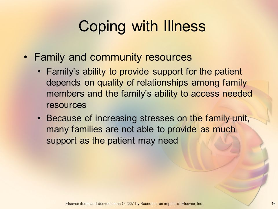 Coping with Illness Family and community resources