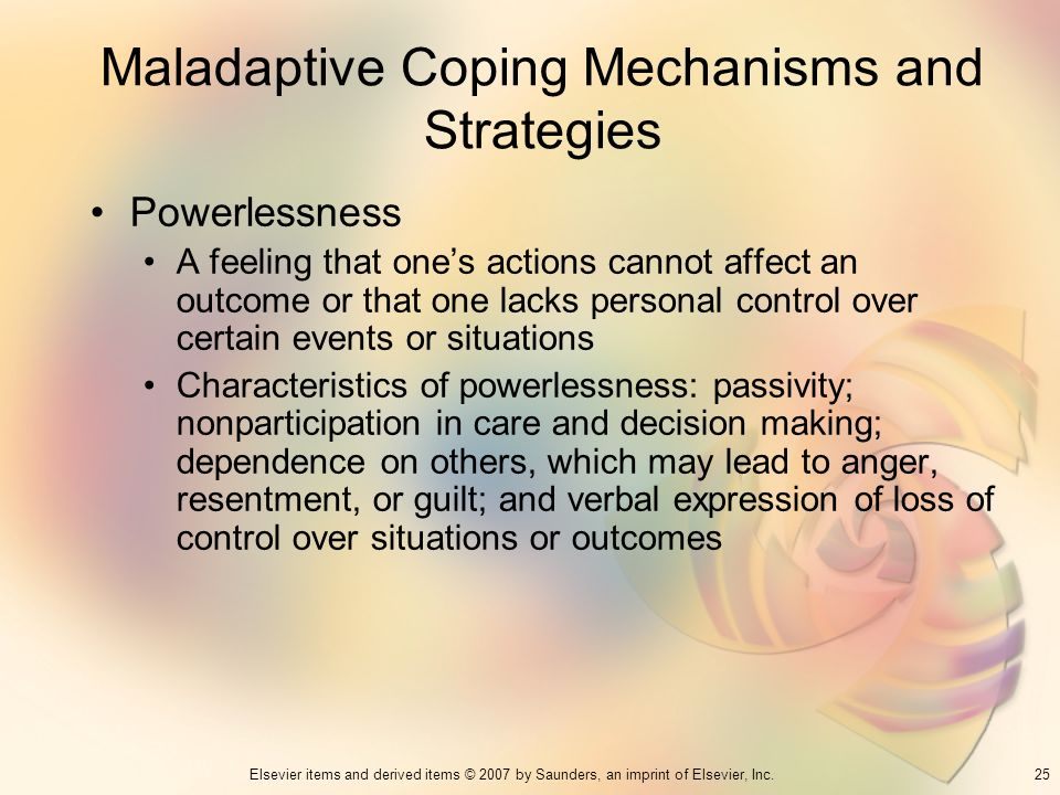 Maladaptive Coping Mechanisms and Strategies