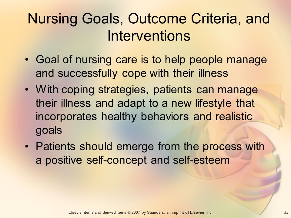 Nursing Goals, Outcome Criteria, and Interventions