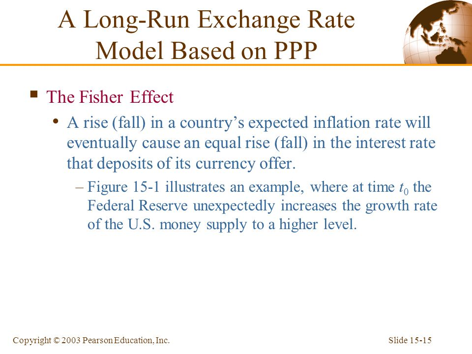 A Long-Run Exchange Rate Model Based on PPP