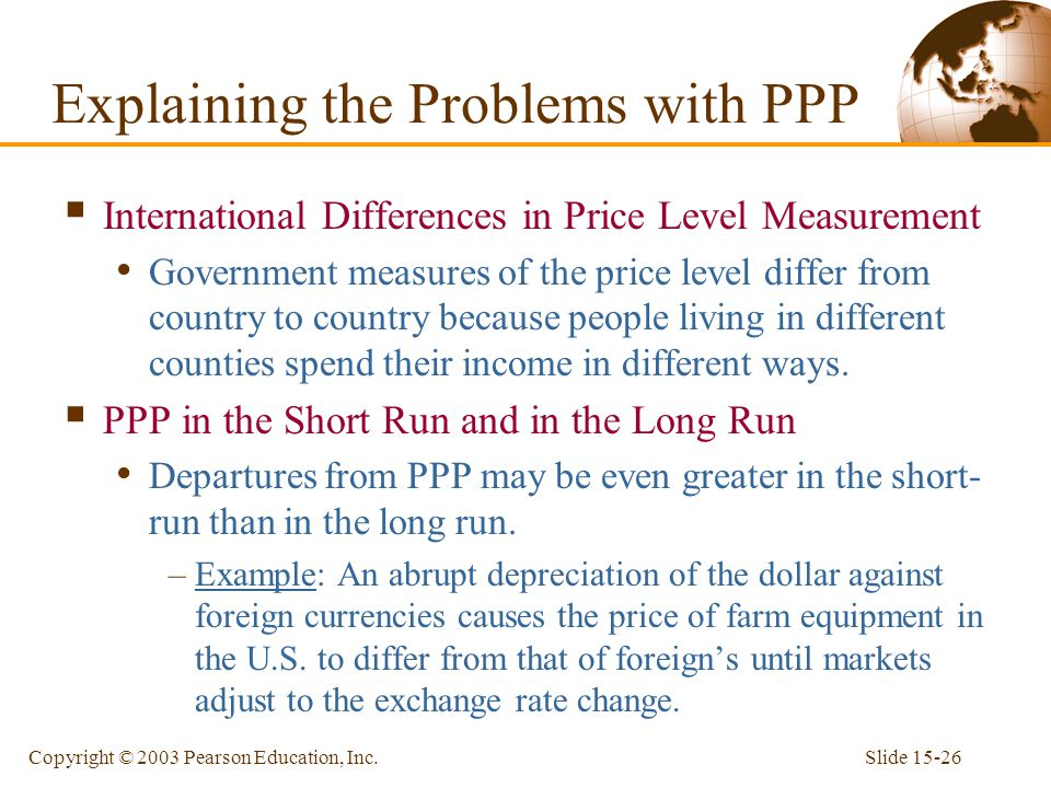 Explaining the Problems with PPP