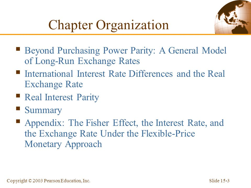 purchasing power parity relationship and interest rate